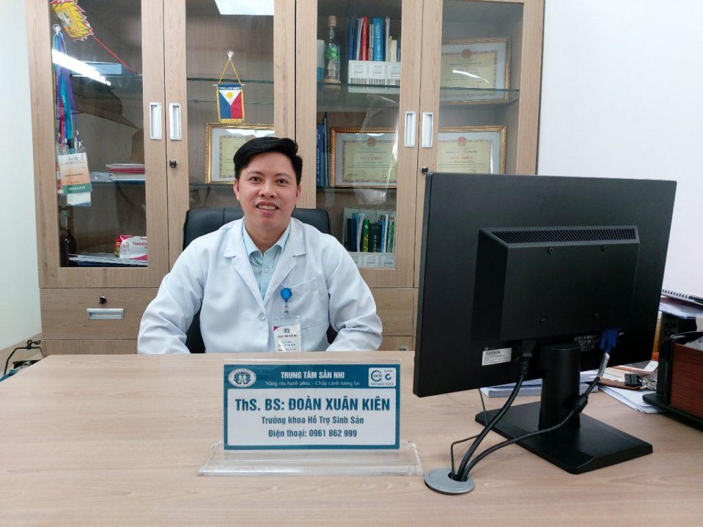 Ths. Bs. Đoàn Xuân Kiên - Trưởng khoa hỗ trợ sinh sản - trung tâm Sản nhi bệnh viện Đa khoa tỉnh Phú Thọ.