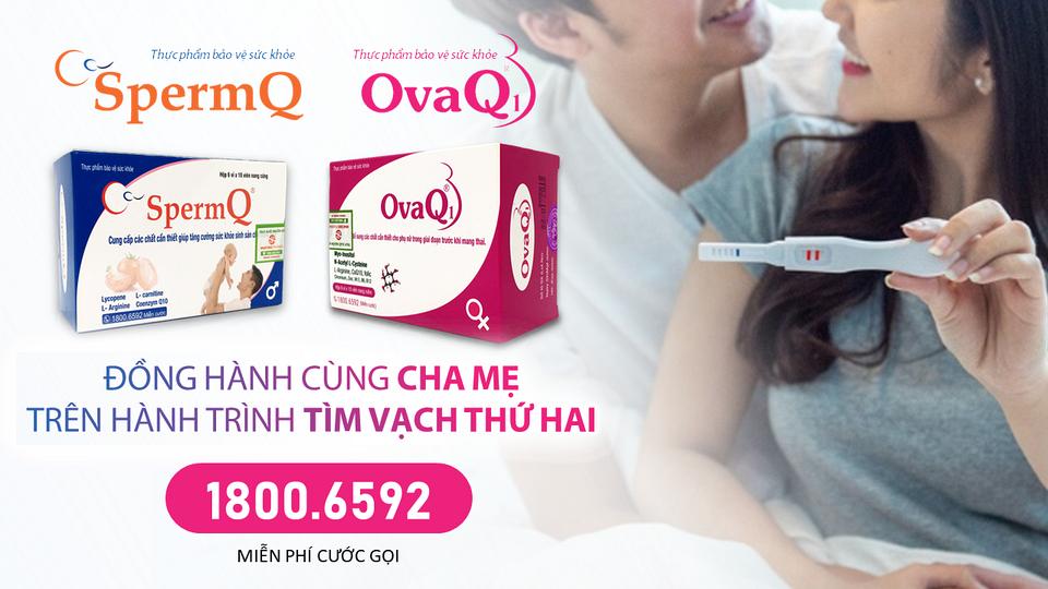 IVF dùng OvaQ1 SpermQ được không?